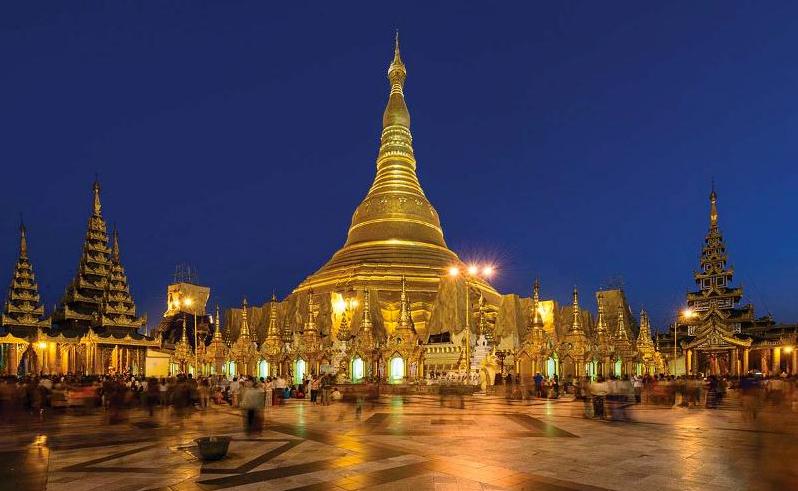 Myanmar Burma golden pagoda