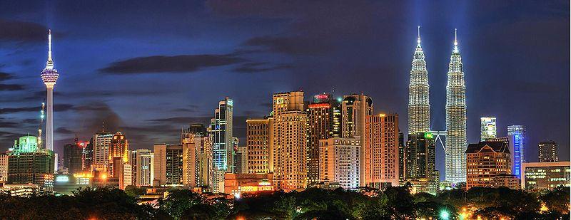 Malaysia Kuala-Lumpur night tall towers