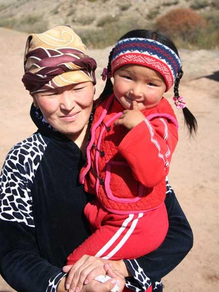 Kyrgyzstan Kyrgiz Mother child